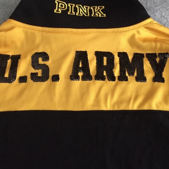 PINK Victoria's Secret Sweaters - Pink US Army quarter zip
